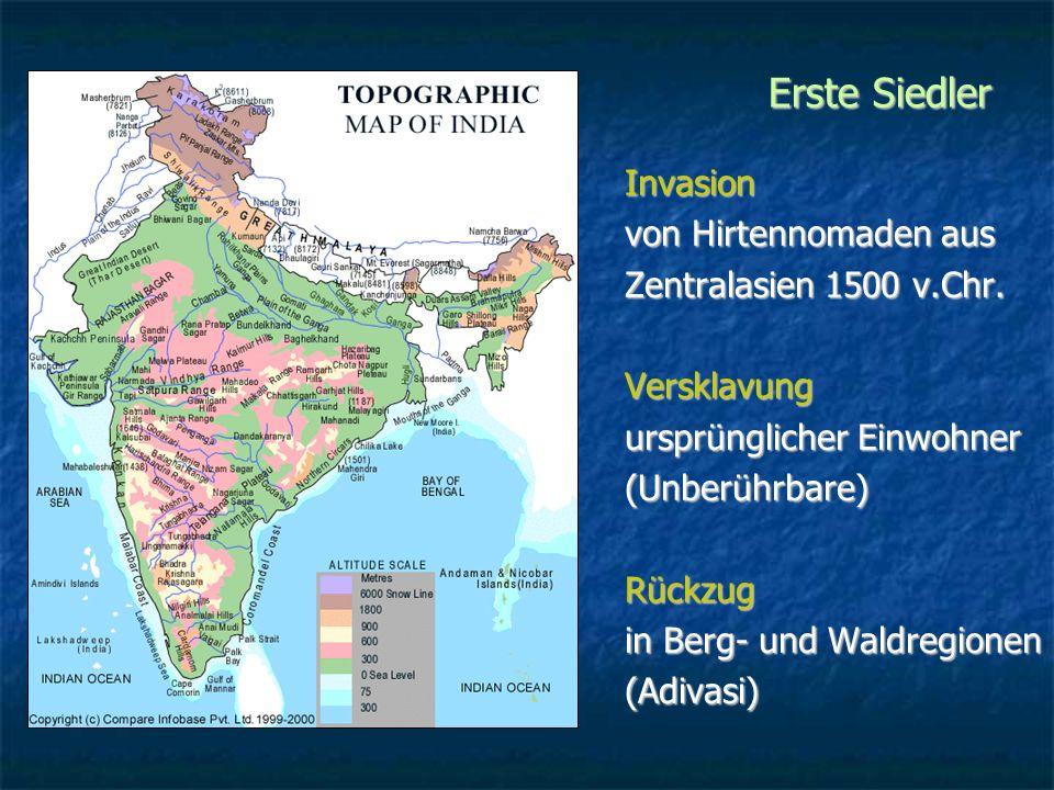 Erste Siedler Invasion von Hirtennomaden aus Zentralasien 1500 v.Chr.