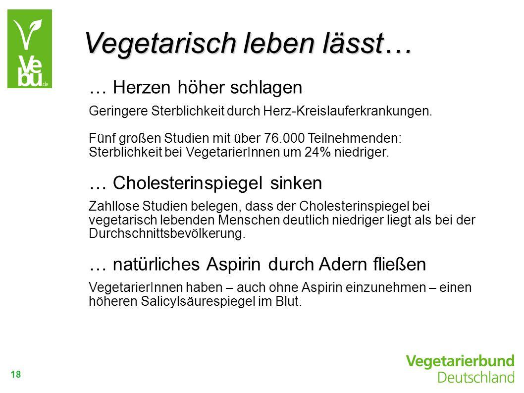 Vegetarisch leben lässt…