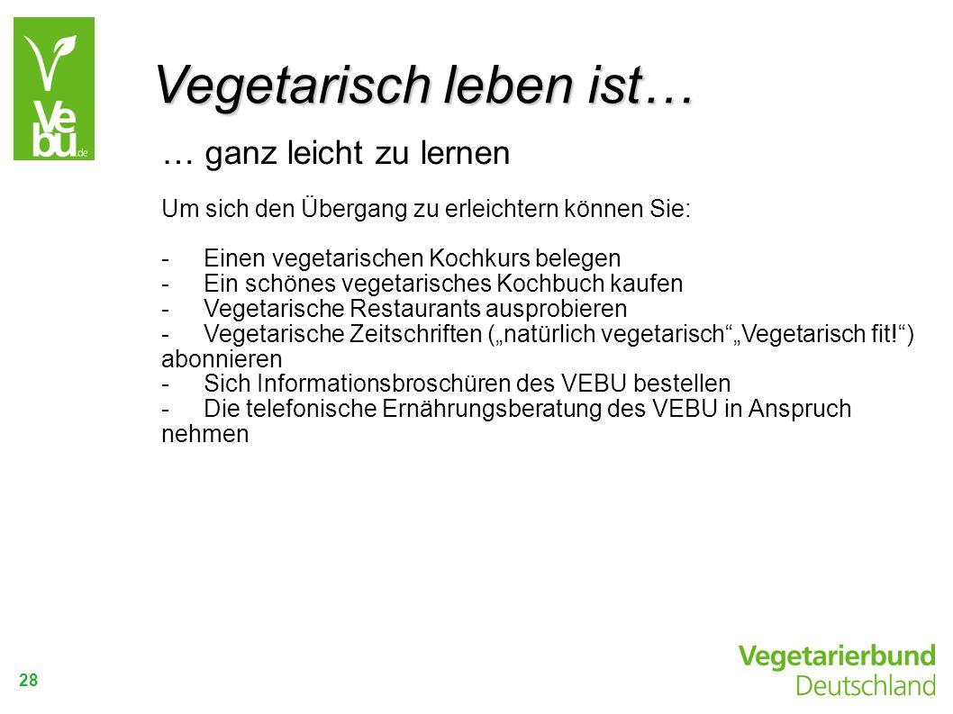 Vegetarisch leben ist…