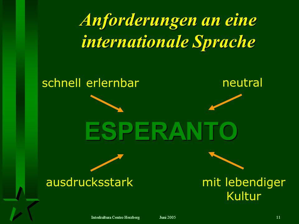 Anforderungen an eine internationale Sprache