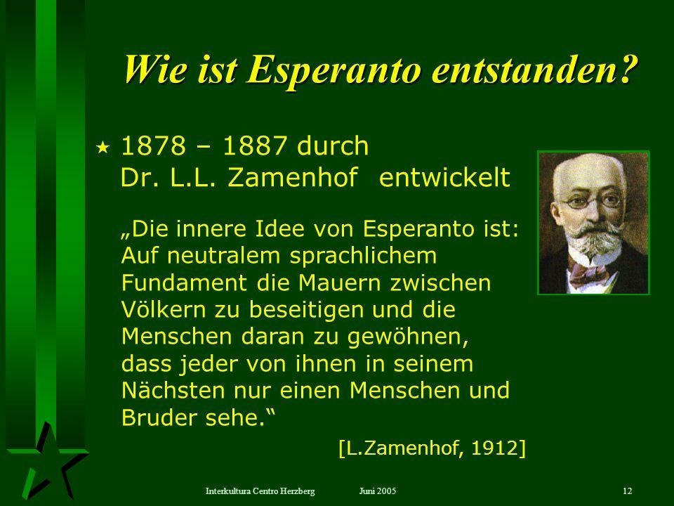 Wie ist Esperanto entstanden