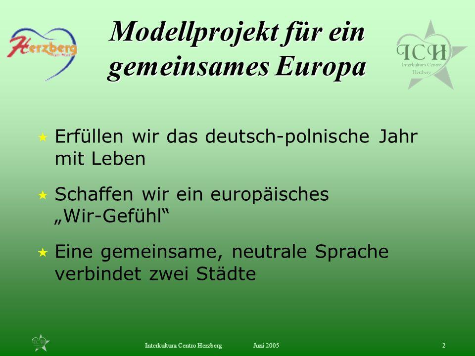 Modellprojekt für ein gemeinsames Europa