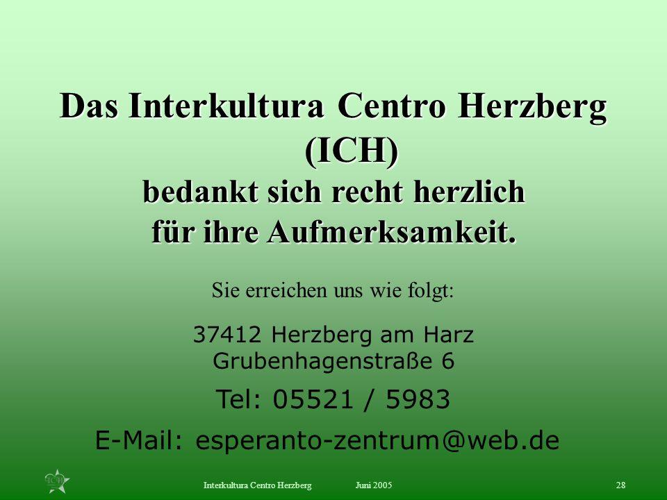 Das Interkultura Centro Herzberg (ICH)