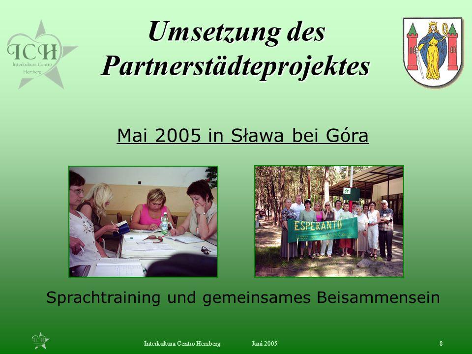 Umsetzung des Partnerstädteprojektes