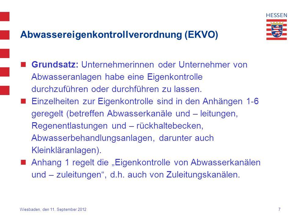 Abwassereigenkontrollverordnung (EKVO)