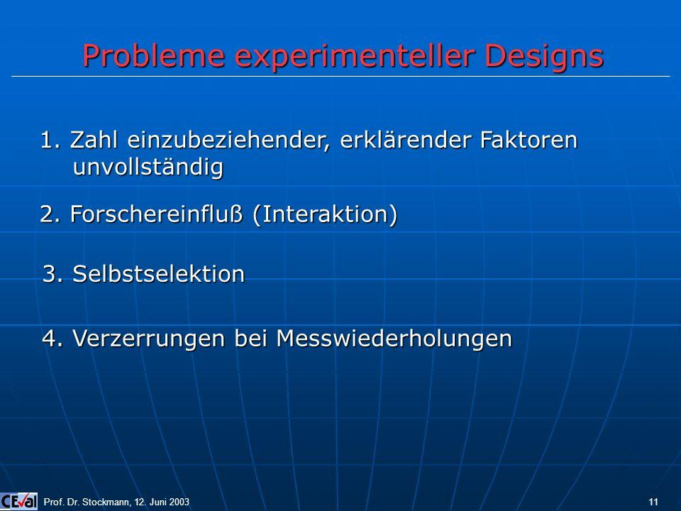 Probleme experimenteller Designs