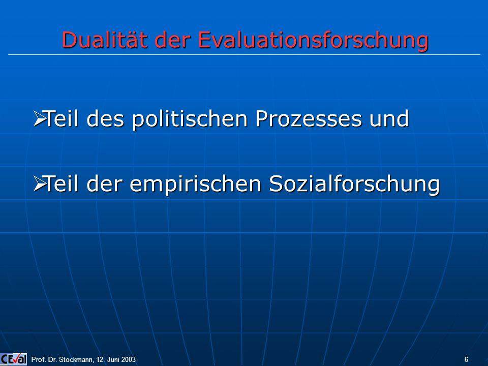 Dualität der Evaluationsforschung