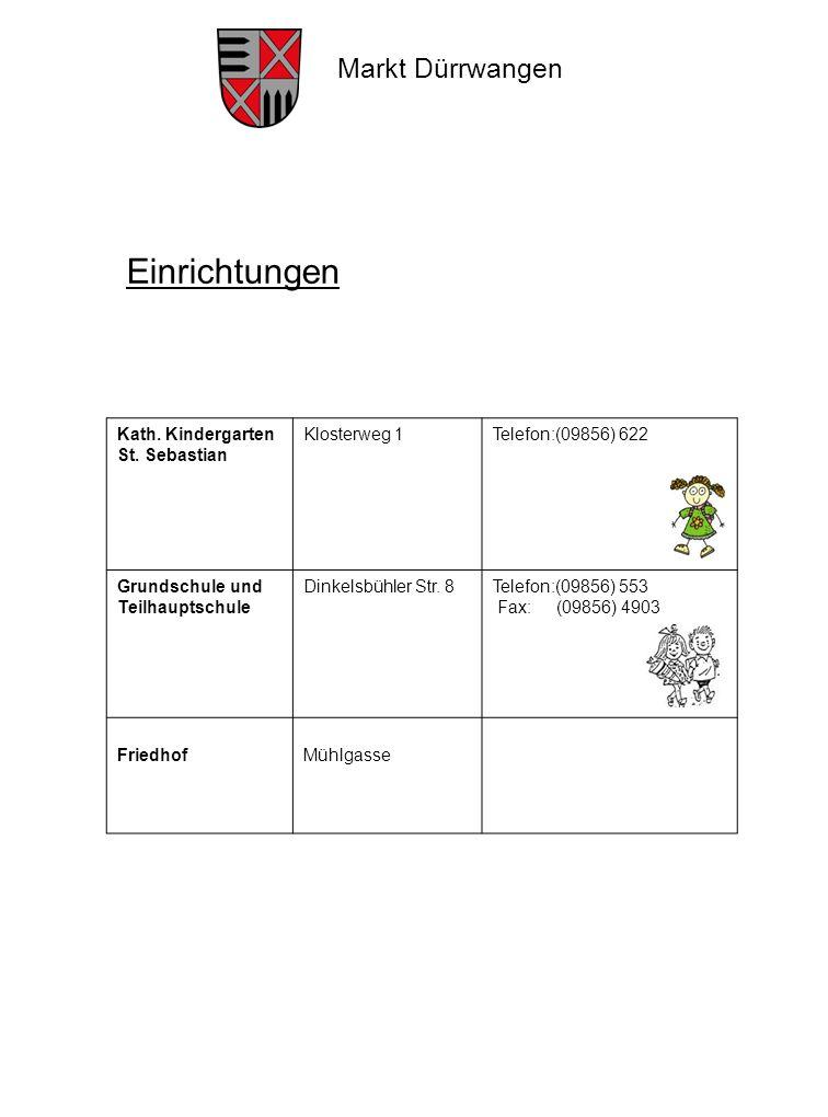 Einrichtungen Kath. Kindergarten St. Sebastian Klosterweg 1