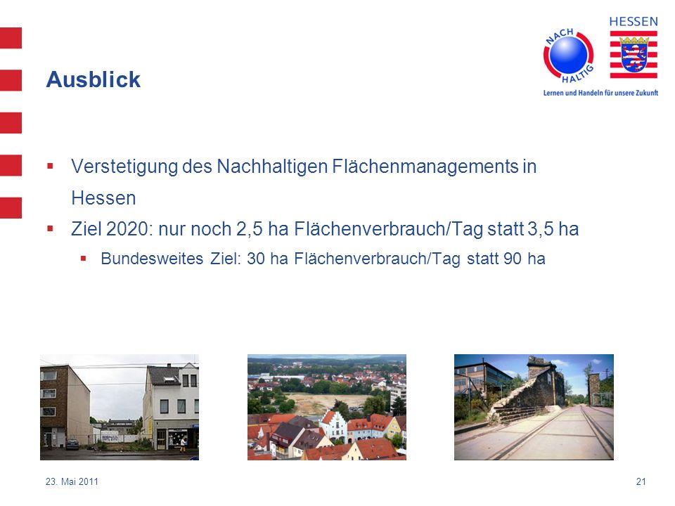 Ausblick Verstetigung des Nachhaltigen Flächenmanagements in Hessen