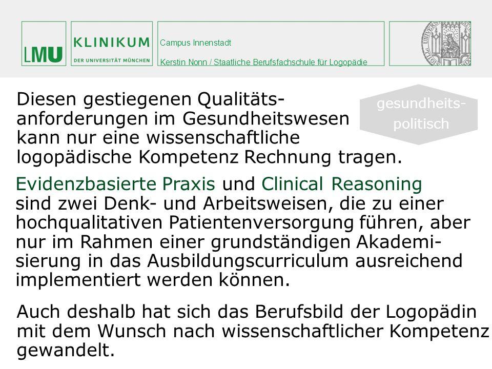 Diesen gestiegenen Qualitäts- anforderungen im Gesundheitswesen