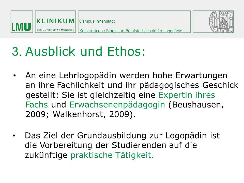 3. Ausblick und Ethos: