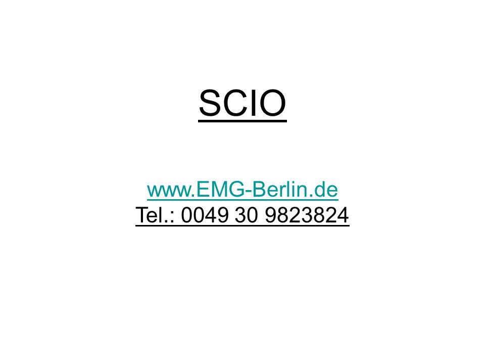 SCIO www.EMG-Berlin.de Tel.: 0049 30 9823824