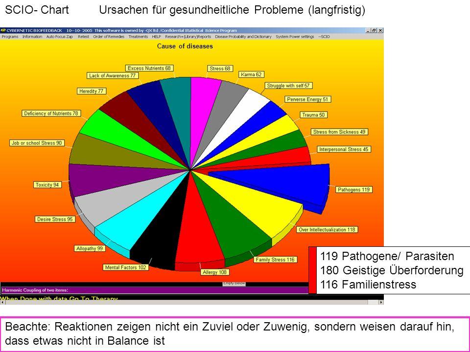 SCIO- Chart Ursachen für gesundheitliche Probleme (langfristig)