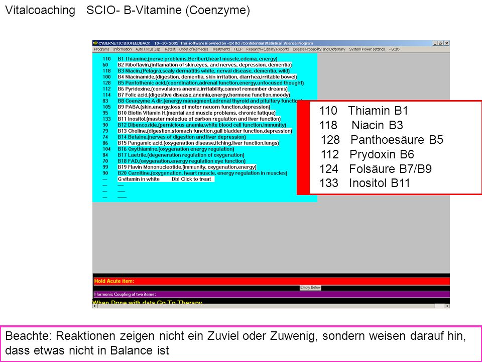 Vitalcoaching SCIO- B-Vitamine (Coenzyme)