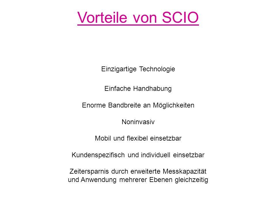 Vorteile von SCIO Einzigartige Technologie Einfache Handhabung