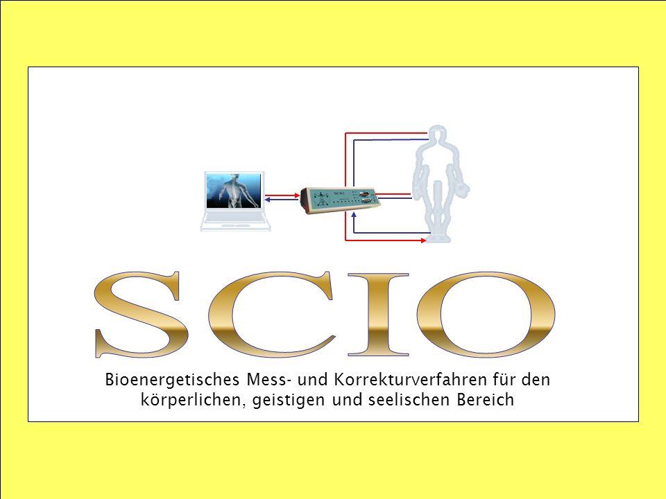 SCIO Bioenergetisches Mess- und Korrekturverfahren für den körperlichen, geistigen und seelischen Bereich.