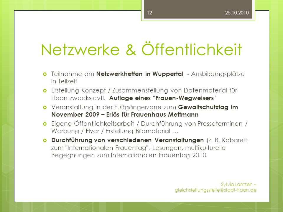 Netzwerke & Öffentlichkeit