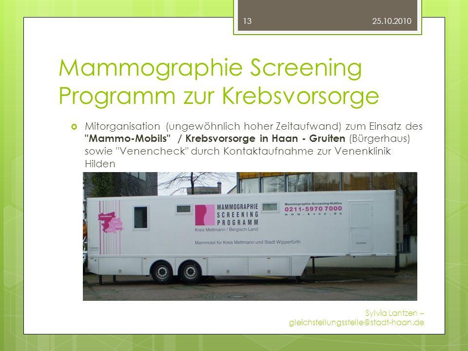 Mammographie Screening Programm zur Krebsvorsorge
