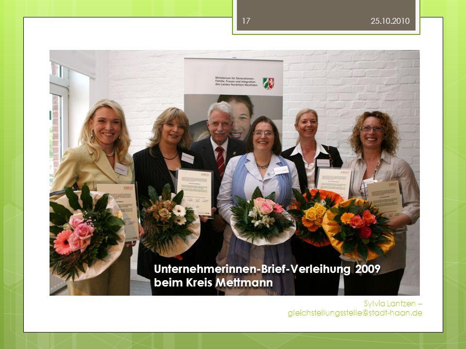 Fotos Unternehmerinnen-Brief-Verleihung 2009 beim Kreis Mettmann