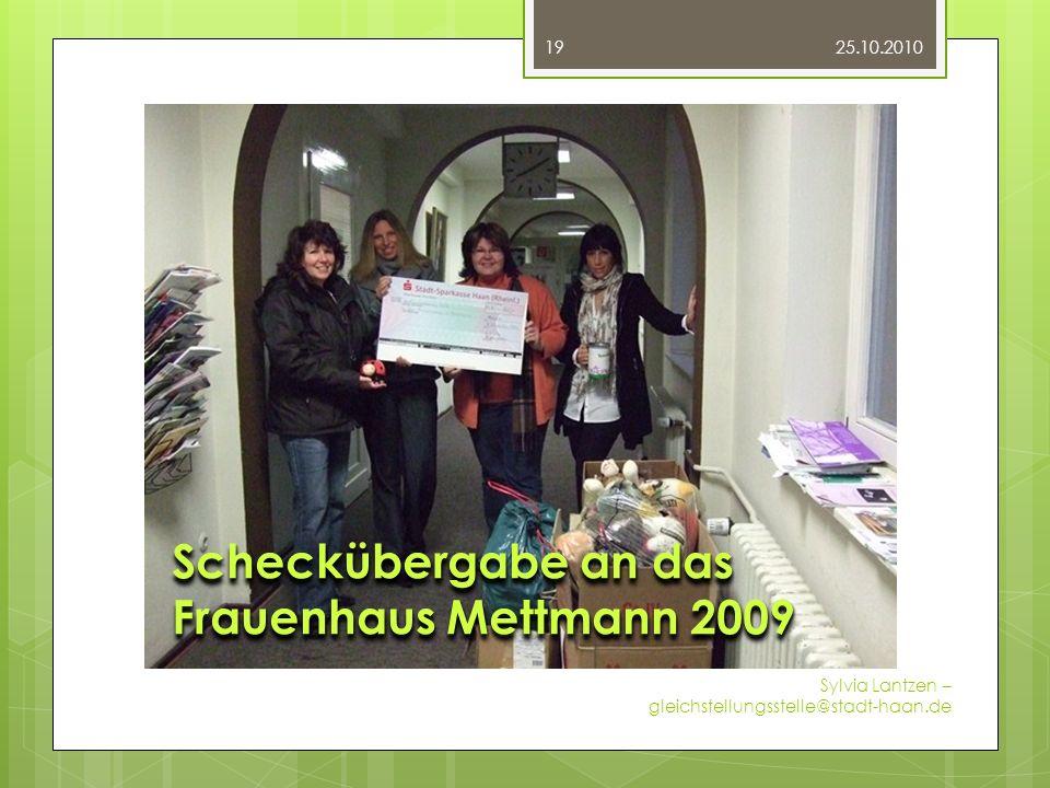 Fotos Scheckübergabe an das Frauenhaus Mettmann 2009