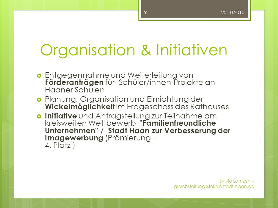 Organisation & Initiativen