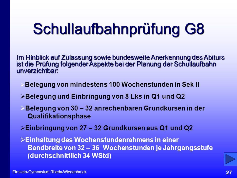 Schullaufbahnprüfung G8