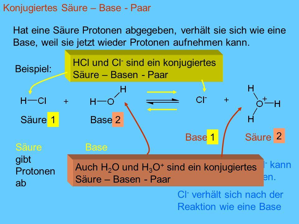Konjugiertes Säure – Base - Paar