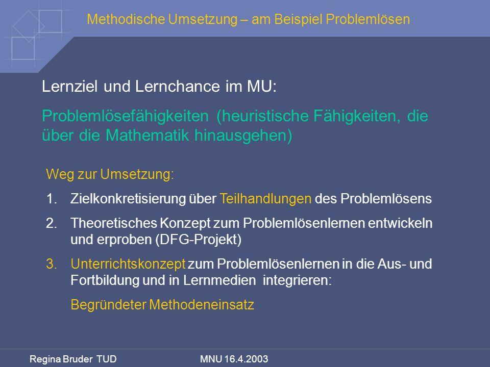 Lernziel und Lernchance im MU: