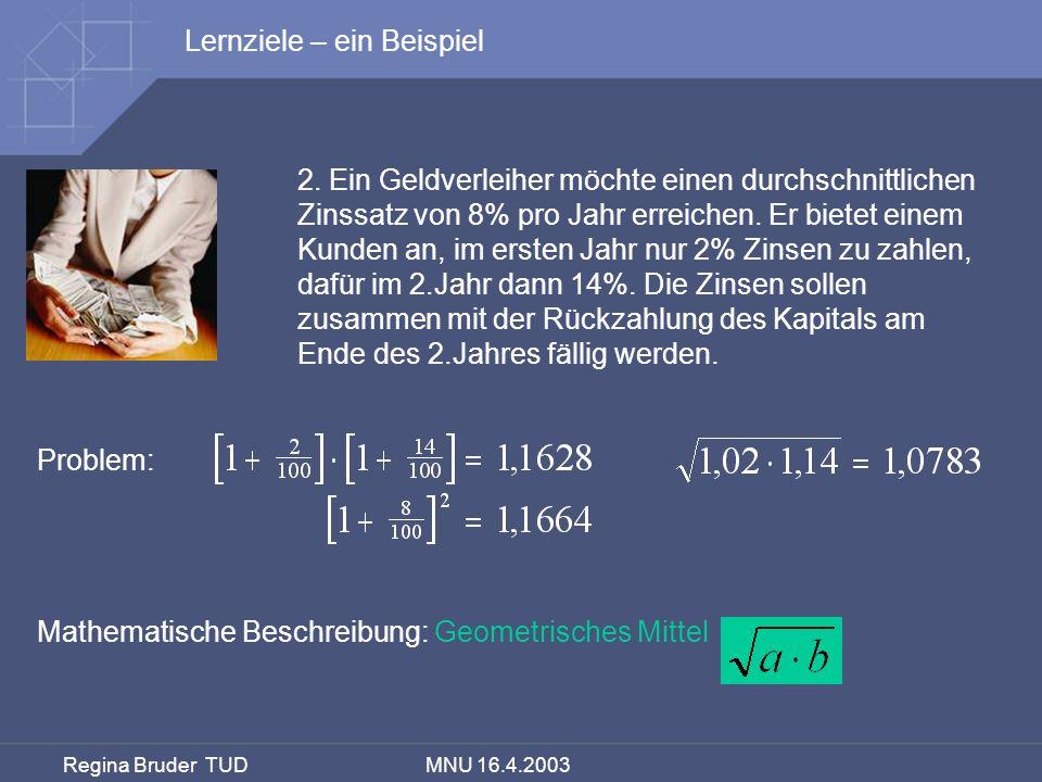 Lernziele – ein Beispiel
