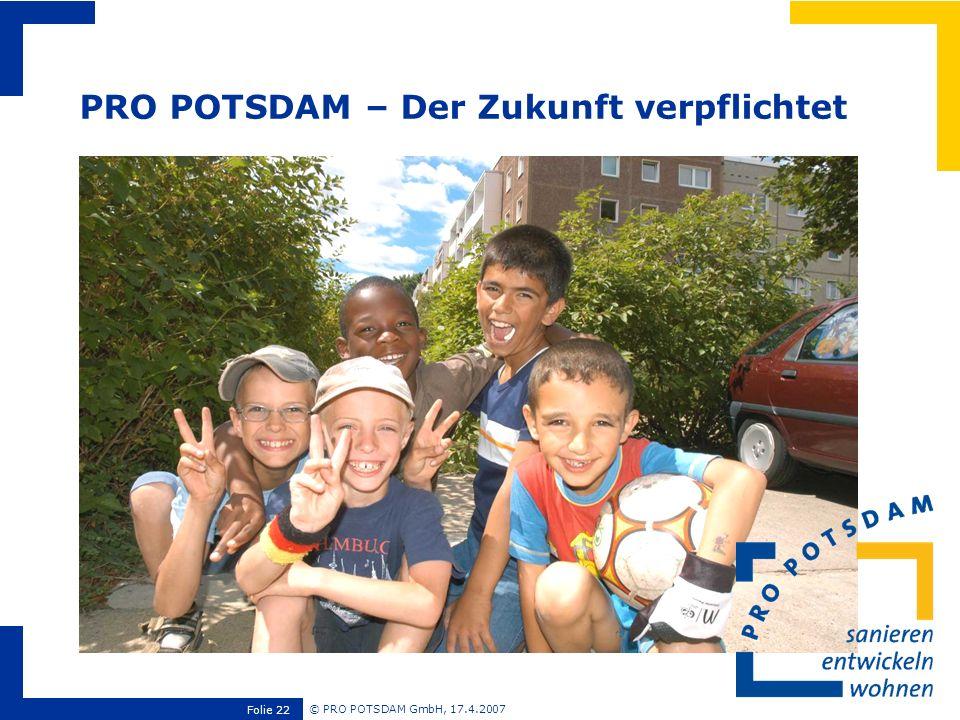 PRO POTSDAM – Der Zukunft verpflichtet