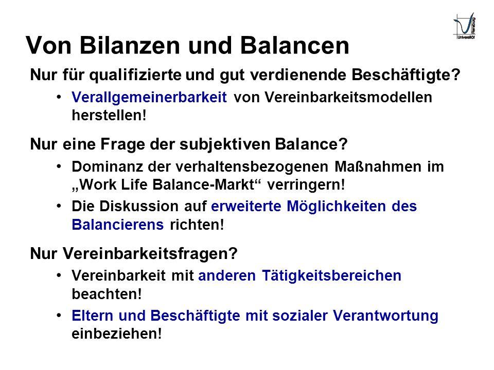 Von Bilanzen und Balancen