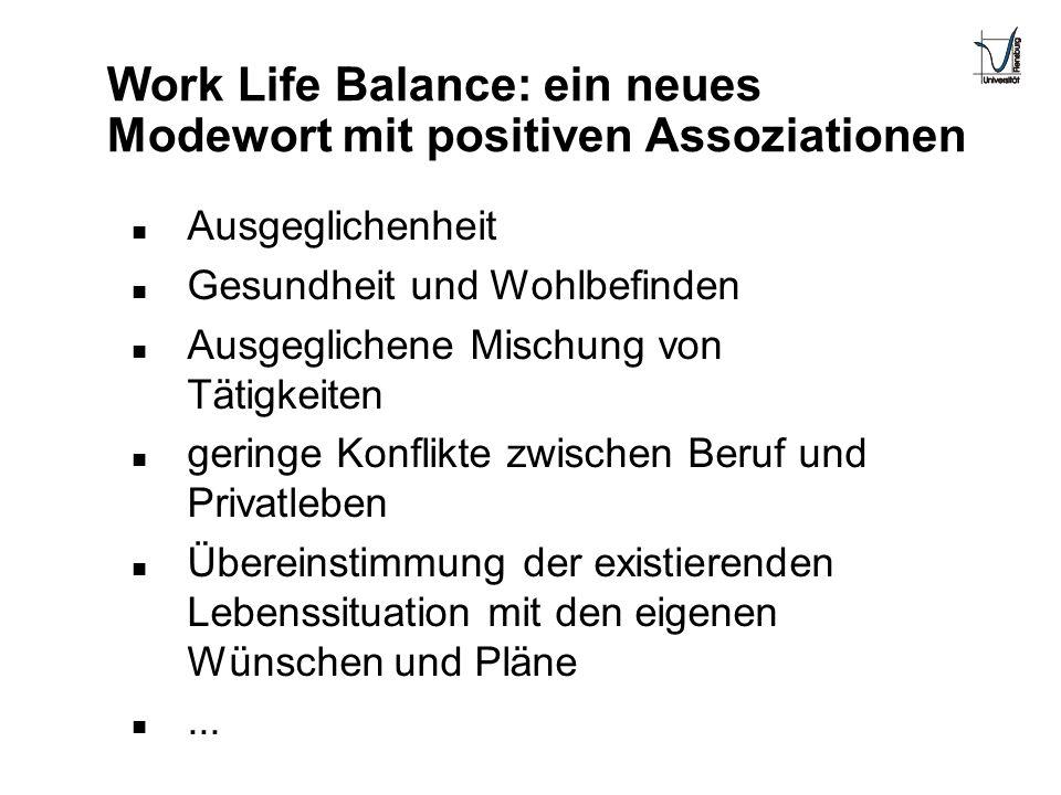Work Life Balance: ein neues Modewort mit positiven Assoziationen