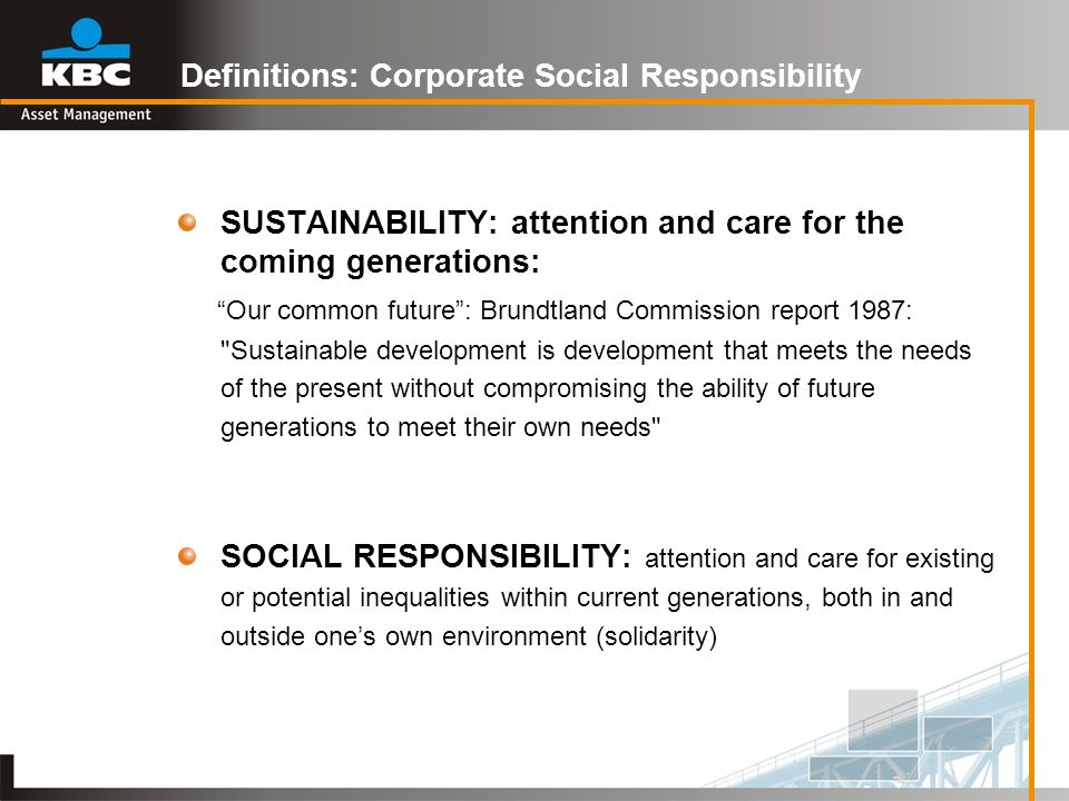 Definitions: Corporate Social Responsibility