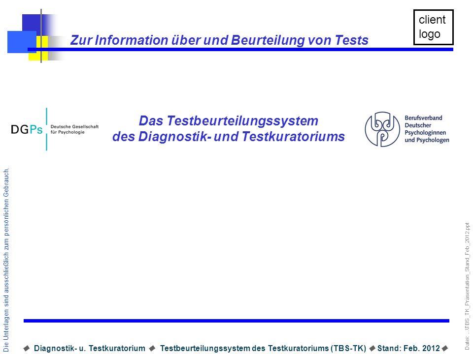 Zur Information über und Beurteilung von Tests