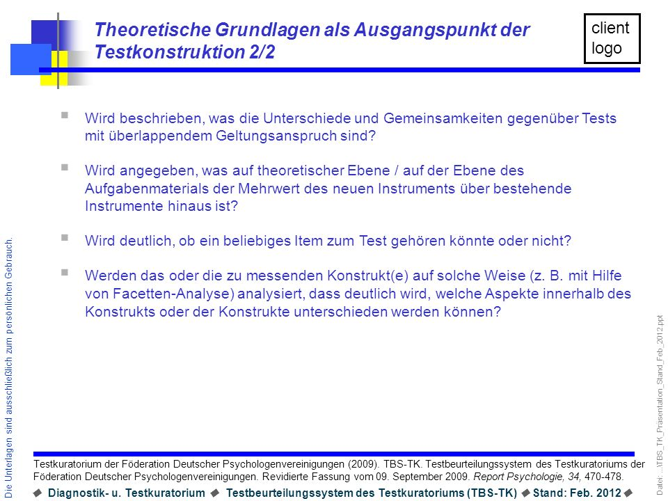 Theoretische Grundlagen als Ausgangspunkt der Testkonstruktion 2/2