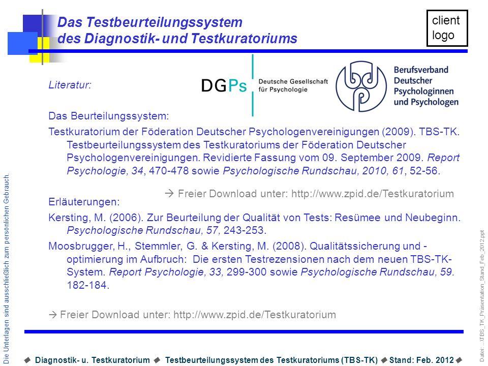 Das Testbeurteilungssystem des Diagnostik- und Testkuratoriums
