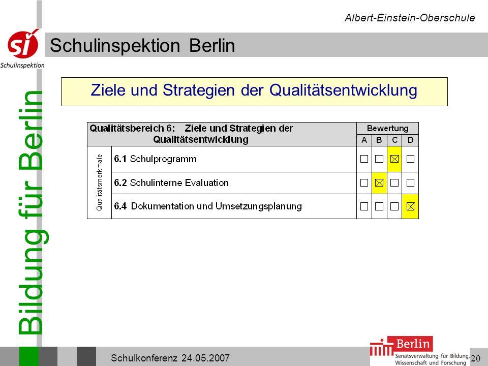 Ziele und Strategien der Qualitätsentwicklung