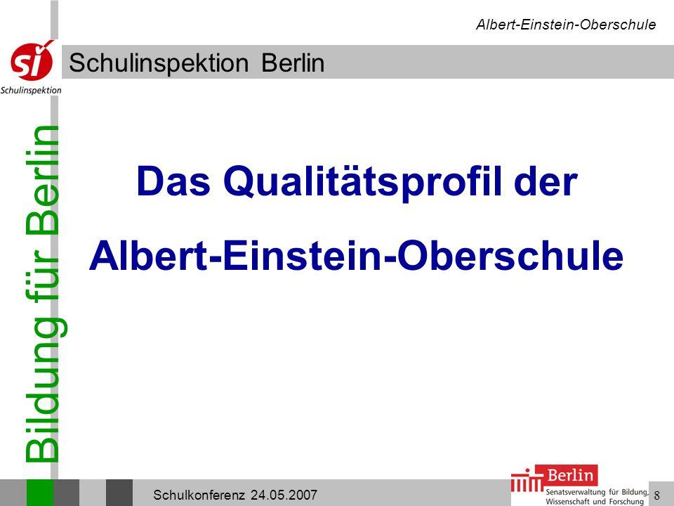 Das Qualitätsprofil der Albert-Einstein-Oberschule