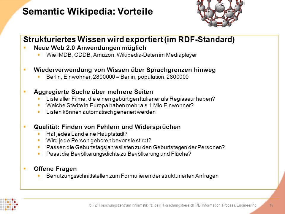 Semantic Wikipedia: Vorteile