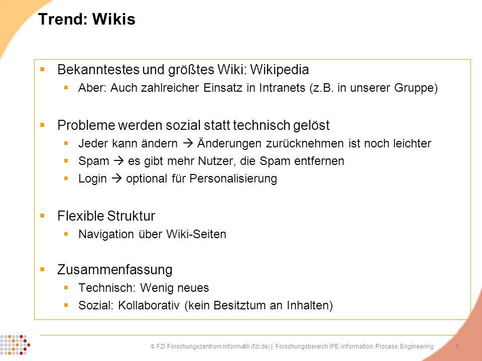 Trend: Wikis Bekanntestes und größtes Wiki: Wikipedia