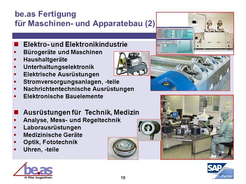 be.as Fertigung für Maschinen- und Apparatebau (2)
