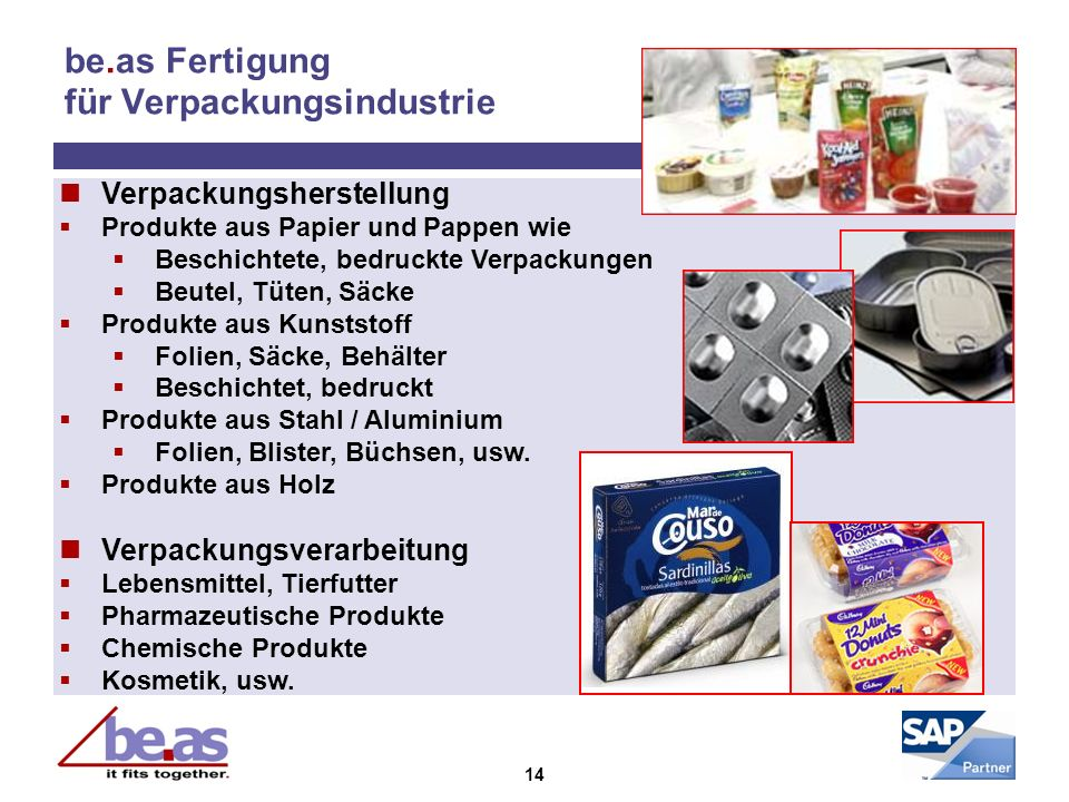 be.as Fertigung für Verpackungsindustrie