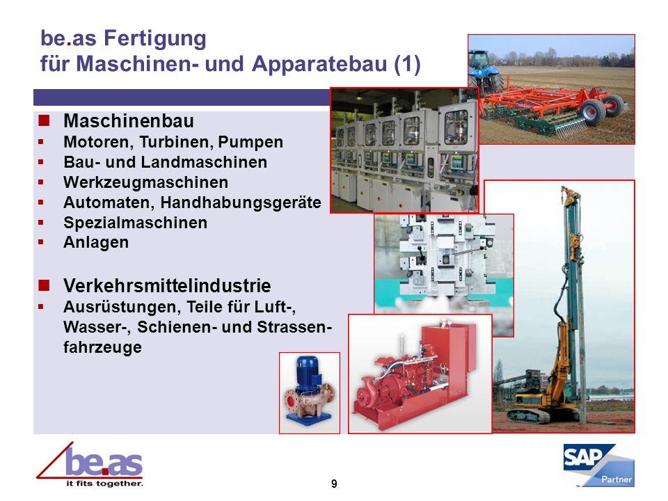 be.as Fertigung für Maschinen- und Apparatebau (1)
