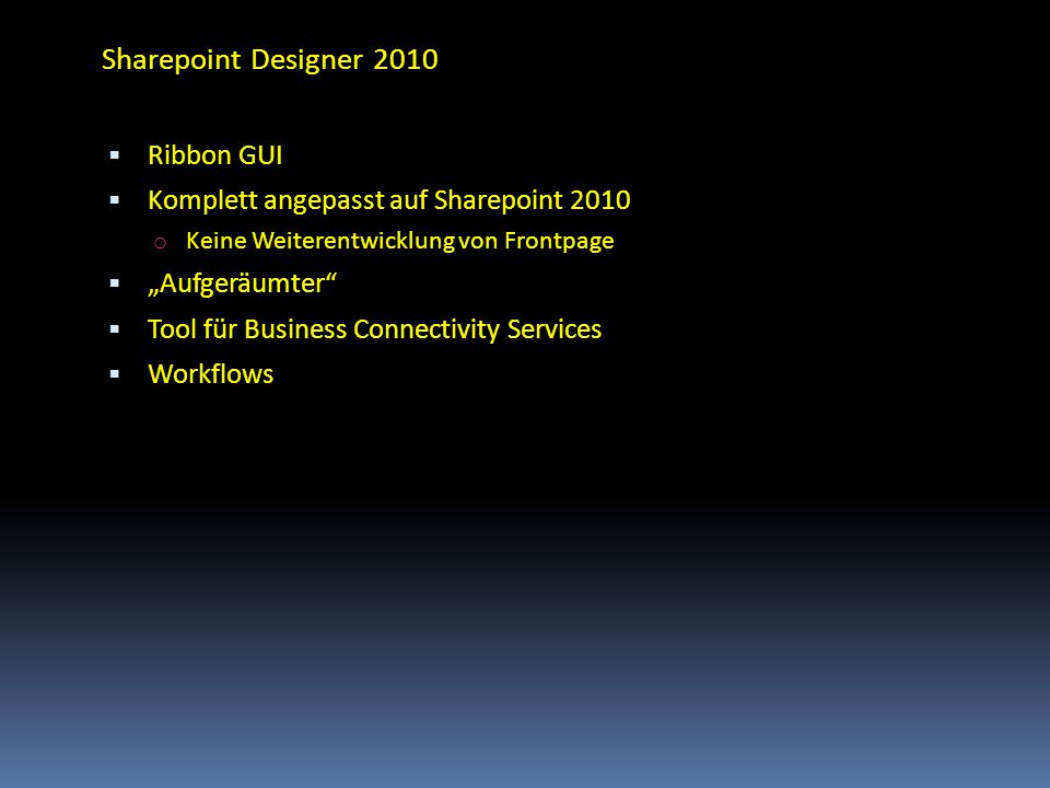 Sharepoint Designer 2010 Ribbon GUI