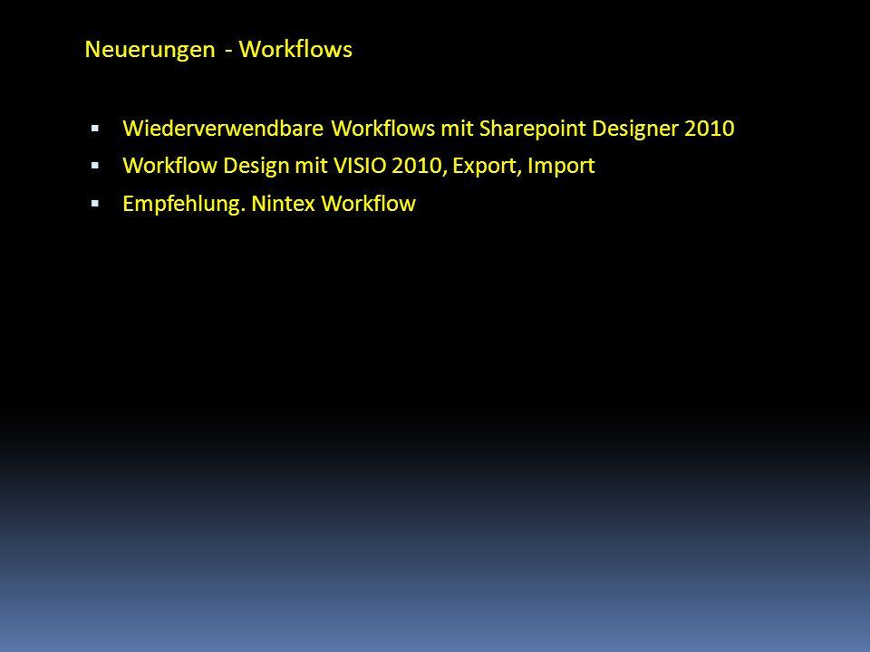 Neuerungen - Workflows