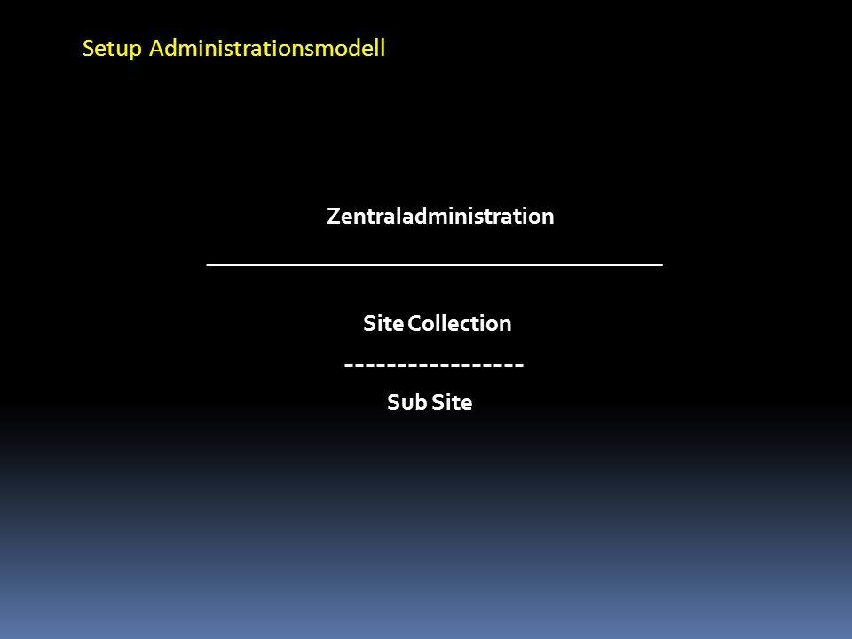 Setup Administrationsmodell