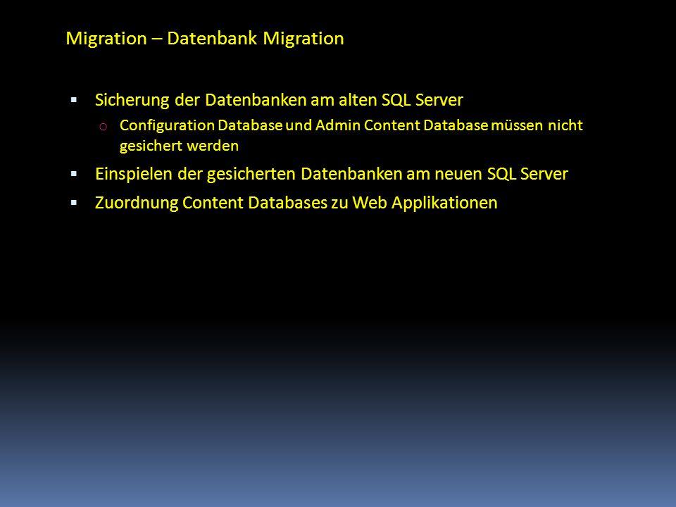 Migration – Datenbank Migration