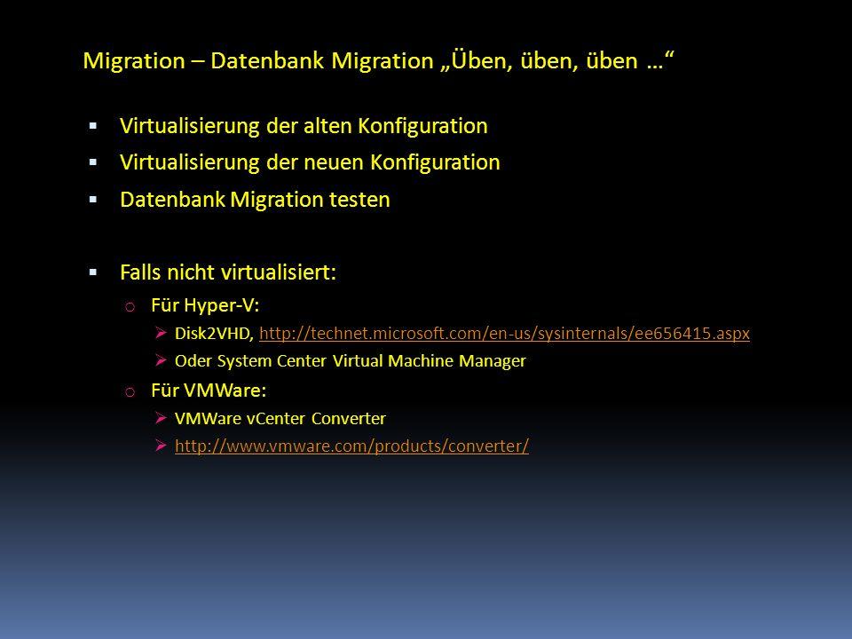 """Migration – Datenbank Migration """"Üben, üben, üben …"""