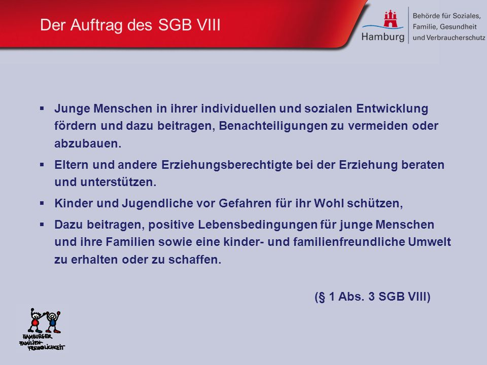 Der Auftrag des SGB VIII