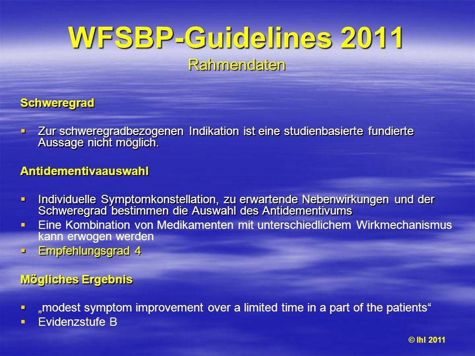 WFSBP-Guidelines 2011 Rahmendaten